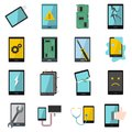 Device Repair Symbols Icons Set In Flat Style Royalty Free Stock Photography - 90440987