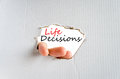 Life Decisions Concept Royalty Free Stock Photography - 90442637