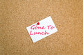 Sticky Note Gone To Lunch Concept Stock Photos - 90443893