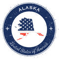 Alaska Circular Patriotic Badge. Stock Photos - 90454253