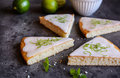 Key Lime Pie Slices Stock Photo - 90455020