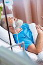 Senior Man In Hospital Bed Stock Photos - 90495813