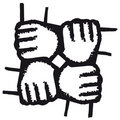 Hands Joined (vector) Royalty Free Stock Photos - 9055208
