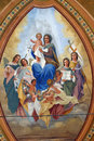 Blessed Virgin Mary With Baby Jesus, Saints And Angels Royalty Free Stock Images - 90516839
