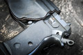 Handgun In Holster Royalty Free Stock Images - 90517369