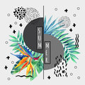 Abstract Tropical Summer Poster Design In Minimal Style. Royalty Free Stock Photos - 90563768