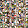 Collection Of Different Caucasian Women And Men Ranging From 18 Stock Photo - 90575740