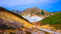 Hot Spring And Mountain In Japan Alpine Route Stock Photos - 90600033