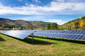 Solar Power Plant In A Mountain Landscape Royalty Free Stock Photos - 90623588