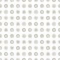 Seamless Vector Geometrical Pattern With Circles Pastel Endless Background With Hand Drawn Textured Geometric Figures. Graphic Ill Stock Photos - 90628923