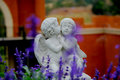 Couple Cupid Statue Kissing Royalty Free Stock Photo - 90644765