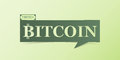 Bitcoin Banner Isolated On Light Green Background. Royalty Free Stock Photo - 90649125