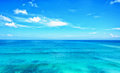 Blue Ocean With Blue Sky Horizon Stock Images - 90649714