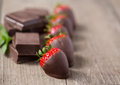 Strawberry With Chocolate Sauce Stock Image - 90678911