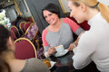 Group Of  Women Taking A Conversation Over A Cup Of Coffee Royalty Free Stock Image - 90682986