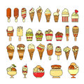 Ice Cream Icon. Set Of Cute Various Desserts Icons. Royalty Free Stock Images - 90687179