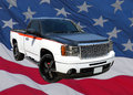 GMC Pickup Truck On USA Flag Royalty Free Stock Image - 90705846