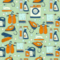 House Cleaning Seamless Vector Pattern. Stock Images - 90706524