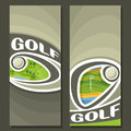 Vector Vertical Banners For Golf Course Royalty Free Stock Image - 90707786
