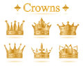 Set Of Gold King Crown .Vector Illustration Stock Photography - 90716122