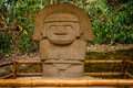 One Of The Ancient Statues In San Augustin Park, Colombia Royalty Free Stock Image - 90723526