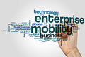 Enterprise Mobility Word Cloud Concept On Grey Background Royalty Free Stock Images - 90730409