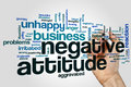 Negative Attitude Word Cloud Royalty Free Stock Images - 90730759