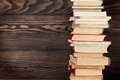Stack Of Old Books Royalty Free Stock Photo - 90743925