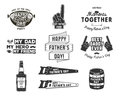 Happy Father`s Day Badges And Design Elements Collection Vintage Style Father Day Labels. Monochrome Typography Style Royalty Free Stock Photos - 90744898