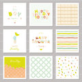 Little Boy Birthday And Baby Shower Invitation Cards Set. One Year Anniversary. Sweet And Balloon Letters. Cute Festive Stock Image - 90745591