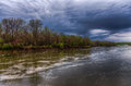 Spring Storm Over The Des Moines River Royalty Free Stock Photo - 90749615