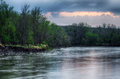 Spring Storm Over The Des Moines River Royalty Free Stock Images - 90749669