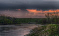 Spring Storm Over The Des Moines River Royalty Free Stock Photo - 90749675