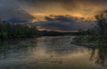 Spring Storm Over The Des Moines River Royalty Free Stock Photos - 90749738