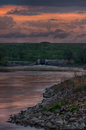 Spring Storm Over The Des Moines River Royalty Free Stock Image - 90749856