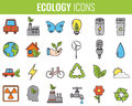Ecology Icons Set. Icons For Renewable Energy, Green Technology. Hand Drawn. Vector Stock Photography - 90755432