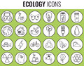 Ecology Icons Set. Icons For Renewable Energy, Green Technology. Hand Drawn. Vector Stock Image - 90755471