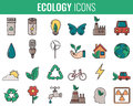 Ecology Icons Set. Icons For Renewable Energy, Green Technology. Hand Drawn. Vector Royalty Free Stock Photos - 90755508