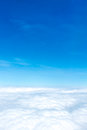 Aerial View Of Blue Sky And Cloud Top View From Airplane Window, Royalty Free Stock Photo - 90778835