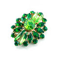 A Green Brooch Isolated Royalty Free Stock Images - 9084199