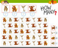 Count The Dogs Activity Royalty Free Stock Image - 90804116