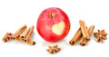Red Apple With Heart, Cinnamon, Anise Stock Images - 90813724