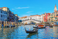 Scene At The Grand Canal In Venice, Italy Royalty Free Stock Photos - 90838398