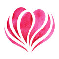 Pink Red Heart Watercolor Painting Hand Drawn Design Royalty Free Stock Photo - 90843195