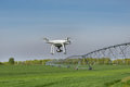 Drone Flying Above Wheat Field Stock Image - 90871861