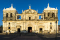 Facade Of The Cathedral Of Leon Our Lady Of Grace Cathedral In Nicaragua, Central America Royalty Free Stock Image - 90873246