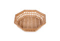 Empty Octagon Bamboo Basket On White Background Royalty Free Stock Images - 90920259