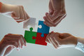 Business People Jigsaw Puzzle Collaboration Team Concept Stock Photos - 90977813