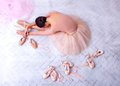 Professional Ballet Dancer Resting After The Performance. Royalty Free Stock Photo - 90997455
