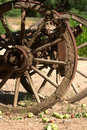 Old Wagon Wheel With Apples Stock Photo - 9103980